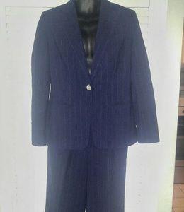 Lauren Ralph Lauren Petite Blue Pinstripe Suit 6P